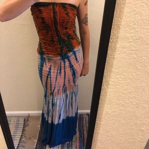 Mermaid style boutique dress SM LIKE NEW tie dye